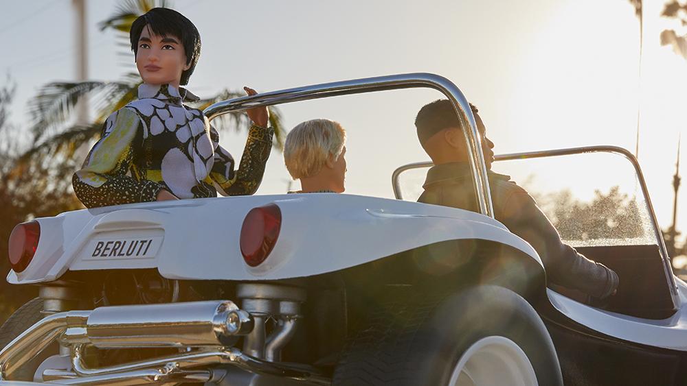 "The Berluti Ken dolls ""traveling"" to Los Angeles"