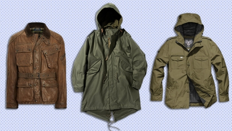 Jackets by Ralph Lauren, The Armoury and Nobis.