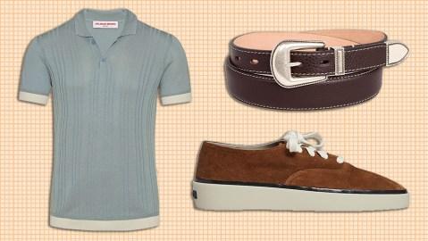 Orlebar Brown polo, Alessandro Meneghetti belt, Fear of God for Ermenegildo Zegna sneakers