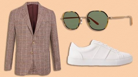 De Petrillo blazer, Garrett Leight sunglasses, Mr P. sneakers