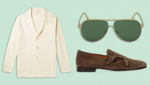 Boglioli cardigan, Tom Ford sunglasses, Santoni loafers