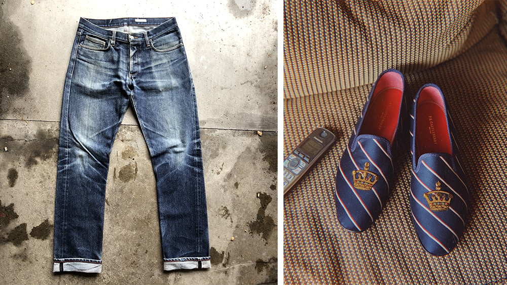 Gustin's selvedge jeans are currently open for funding (at $129 per pair); F.E. Castleberry's smoking slippers ($450) are now part of its permanent collection.