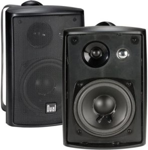 Dual Electronics Three-Way High Performance Outdoor Speakers