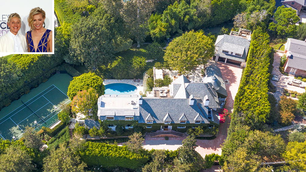 Ellen DeGeneres and Portia de Rossi List Their Sprawling Beverly Hills Estate for $53.5 Million