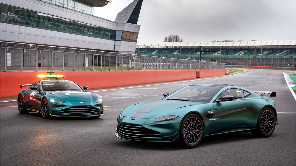 Aston Martin F1 Edition (right) and this season's official Formula 1 safety car