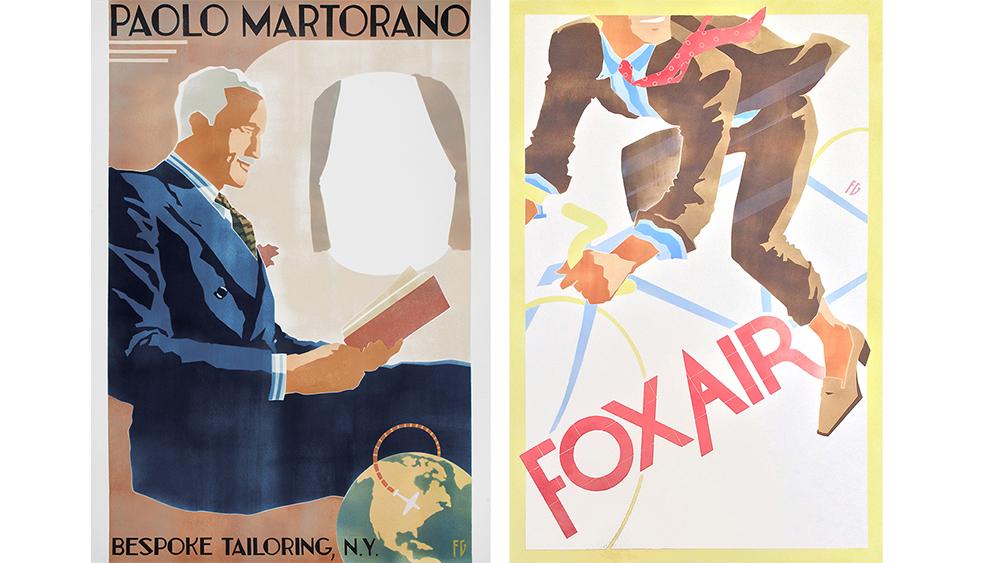 Two Fab Gorjian menswear illustrations.