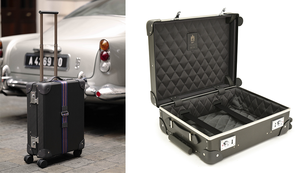 The limited-edition carbon fiber carry-on fit for 007 (£3,170).