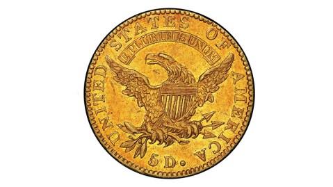 1822 Half Eagle $5 gold coin