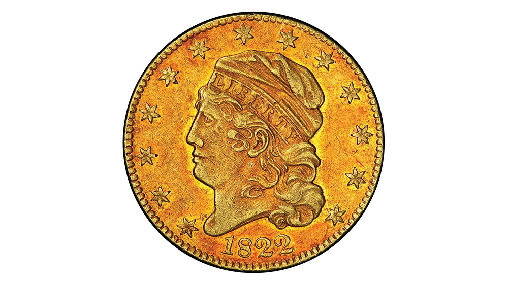 1822 Half Eagle $5 gold coin