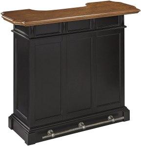 Home Style Americana Black and Oak Bar