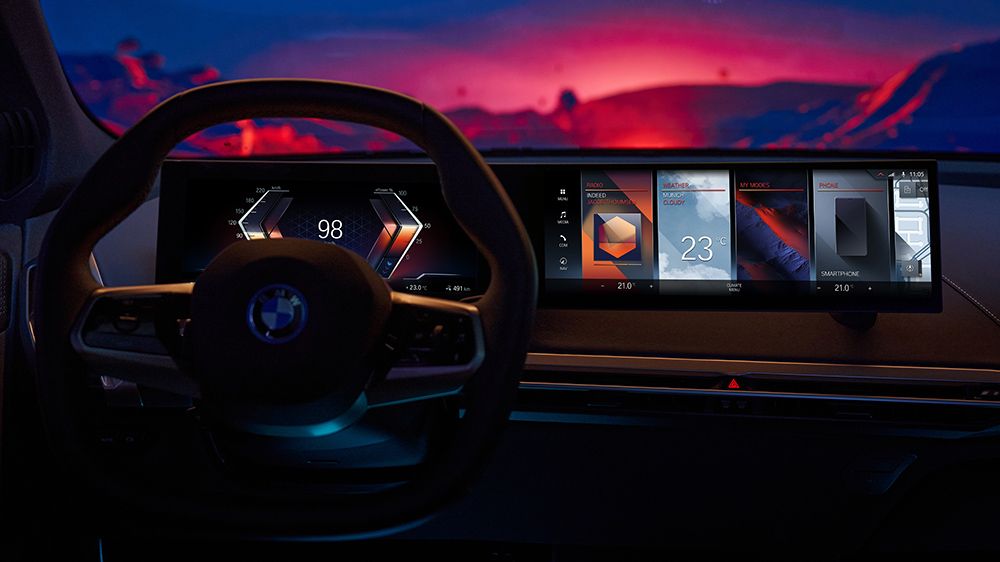 BMW's iDrive 8 infotainment system