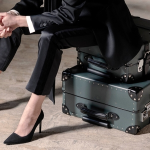 Suitcases from Globe-Trotter's James Bond collaboration.
