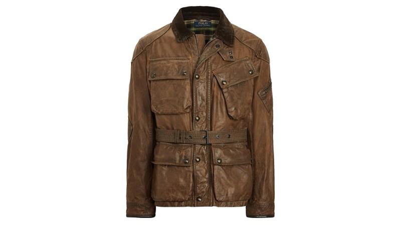 Polo Ralph Lauren Waxed Cotton Biker Jacket