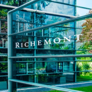 The Richemont logo outside the company's headquarter in Geneva