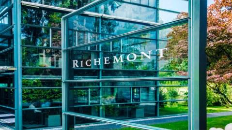 The Richemont logo outside the company's headquarter in Geneva