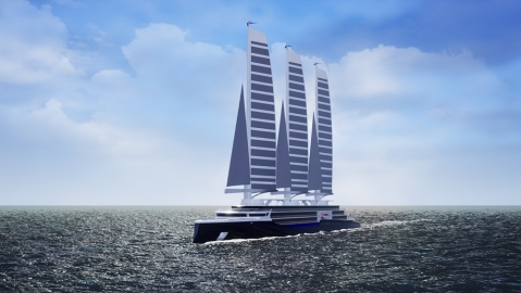 Silenseas is a solid-sail cruise liner that is more sustainable than a traditional cruise ship
