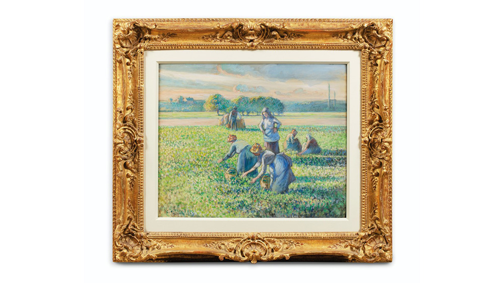 Camille Pissarro, 'La Récolte des pois,' 1887