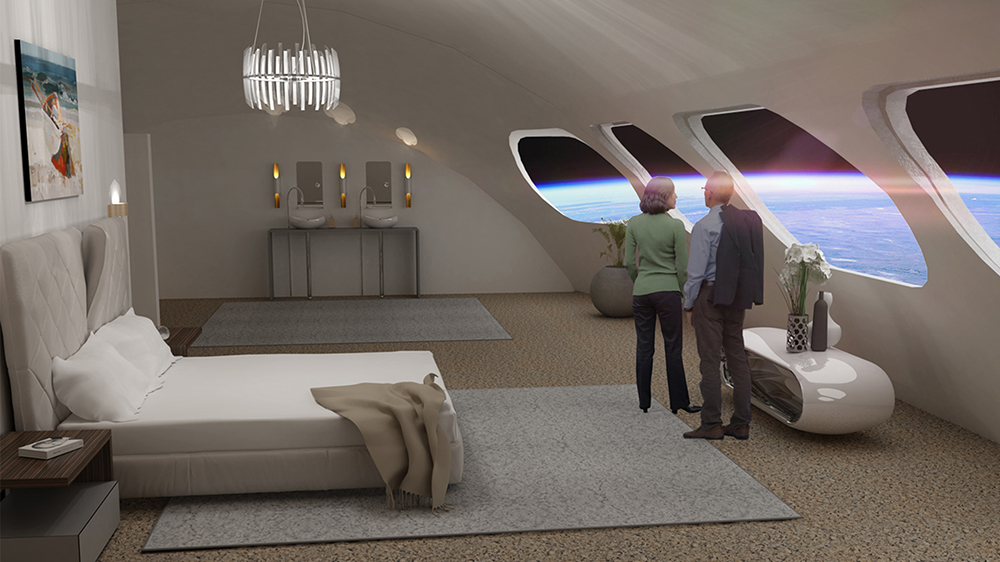 A rendering of one of the Voyager Station's rooms