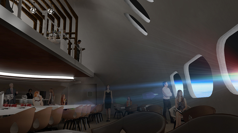 What the Voyager Station's restaurant could look like