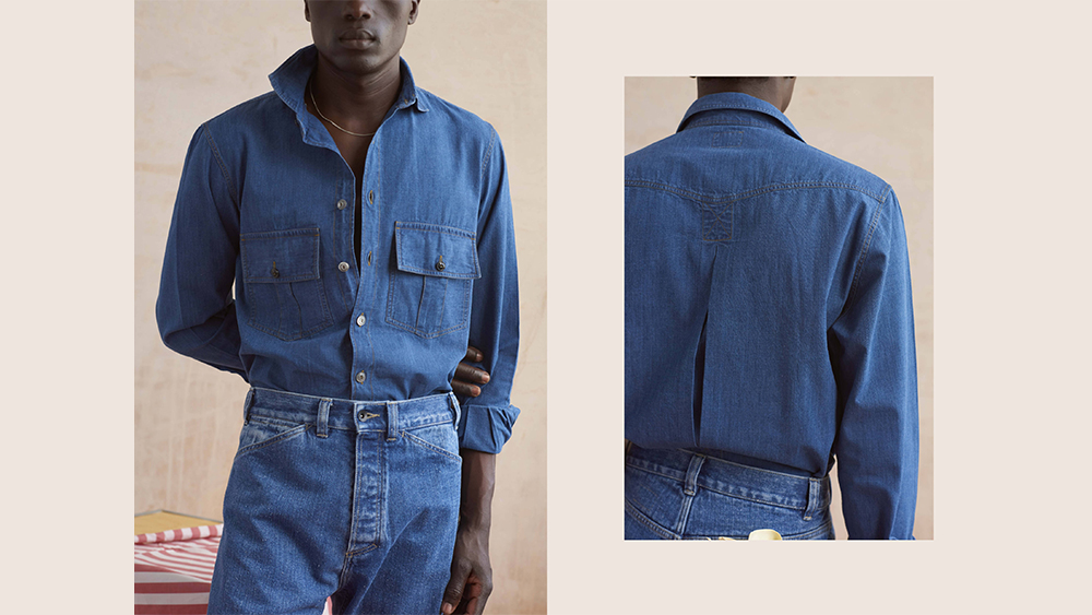 A denim workshirt from L.E.J's spring collection.