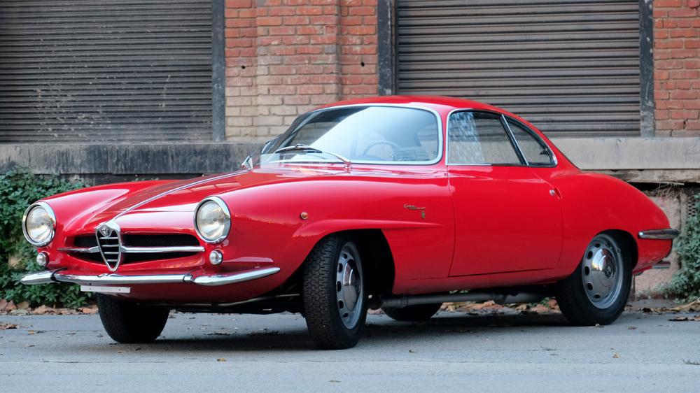 A 1962 Alfa Romeo Giulietta Sprint Speciale.