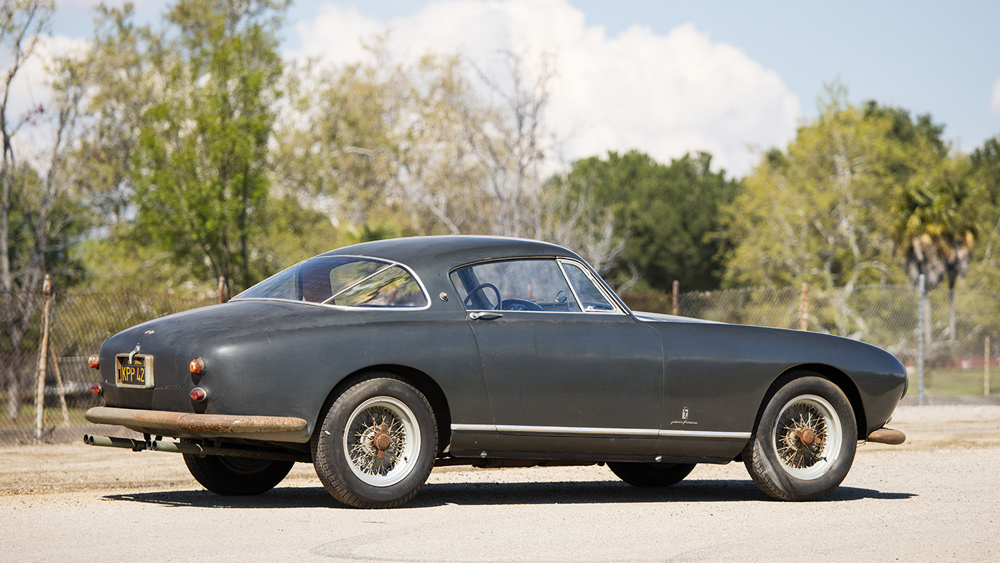 An unrestored example of the 1955 Ferrari 250 Europa GT.