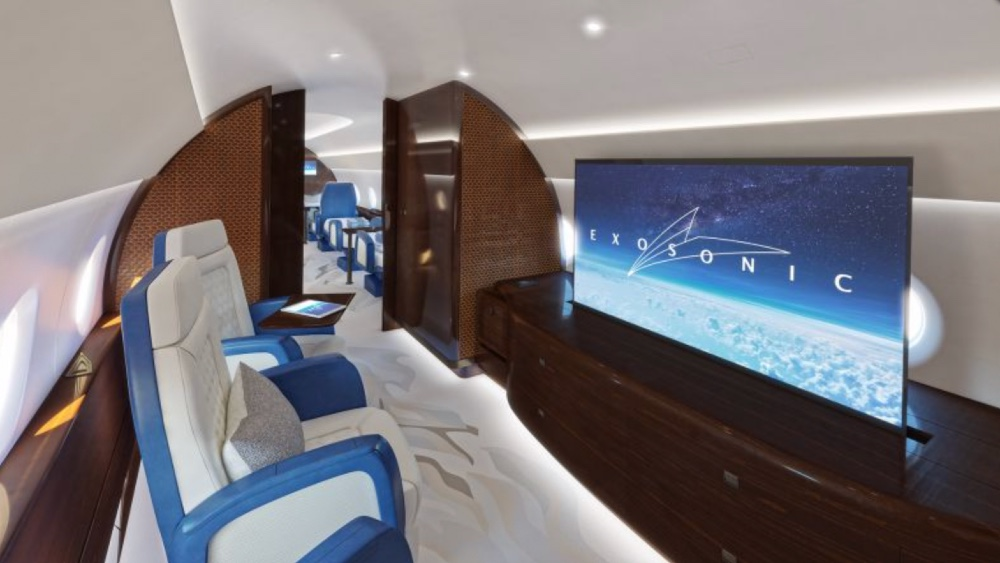 Exosonic released first renderings of its interior for presidential supersonic jet