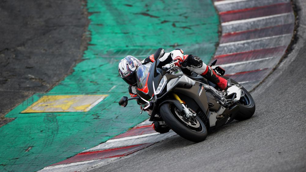 Test-riding the 2021 Aprilia RSV4 at WeatherTech Raceway Laguna Seca.