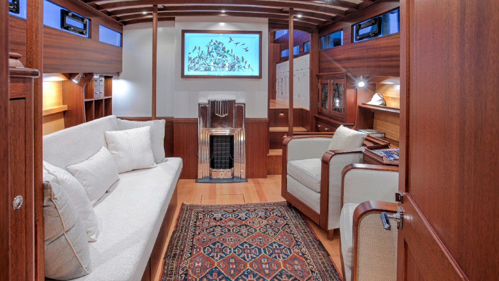 This 1930 Huckins has been restored to its original glory with many new features added on