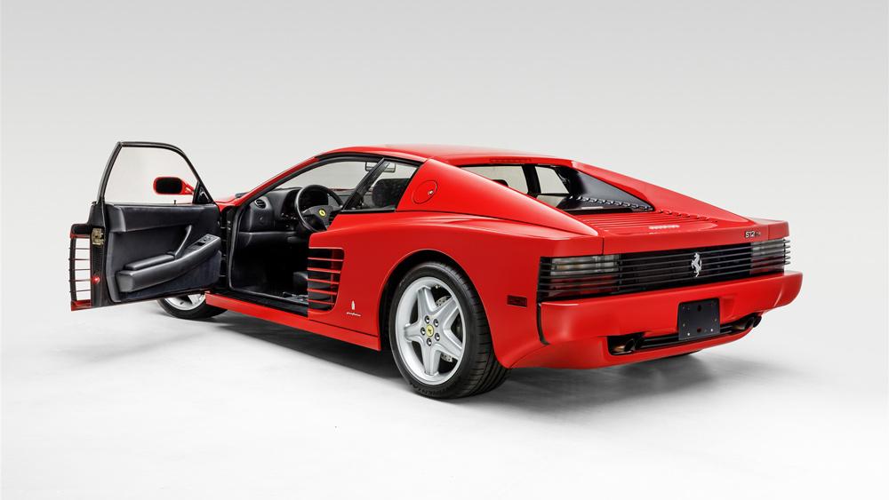 A 1993 Ferrari 512 TR.