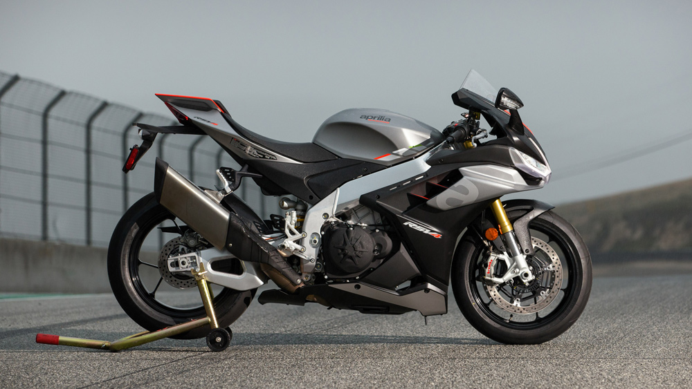 The 2021 Aprilia RSV4 motorcycle.