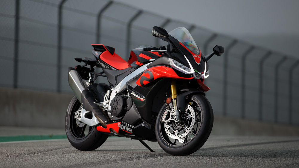 The 2021 Aprilia RSV4 Factory motorcycle.