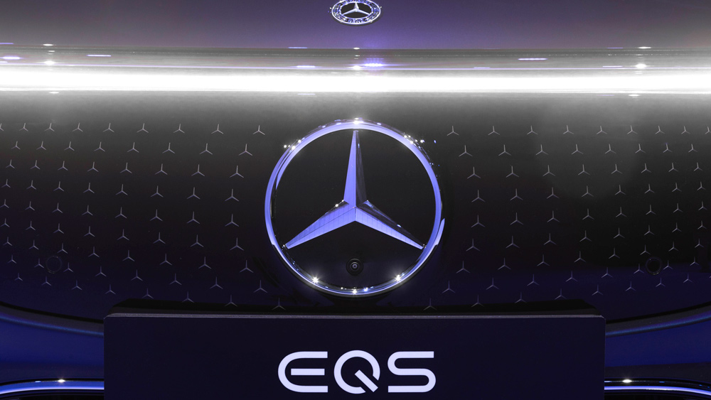 The all-electric Mercedes-Benz EQS.
