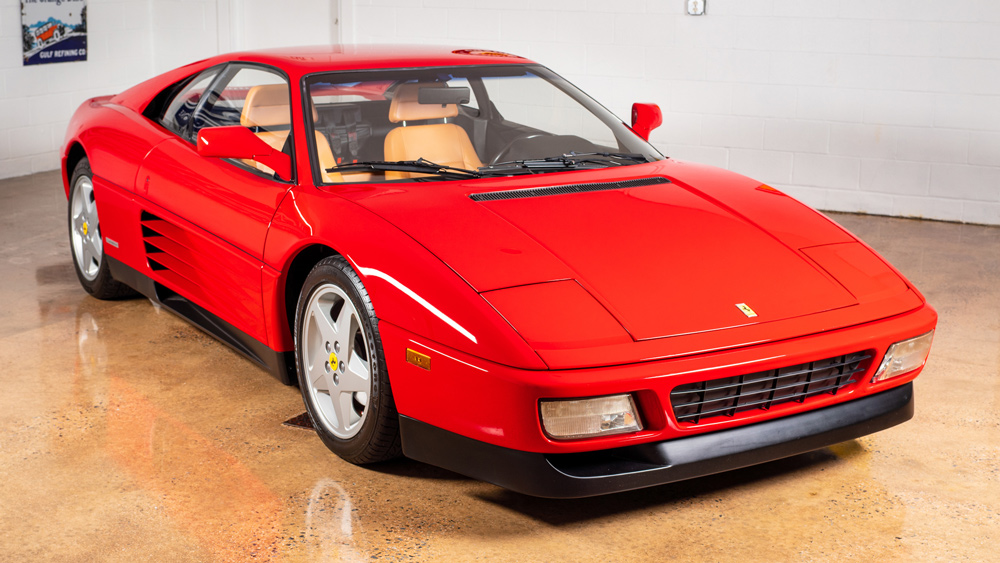 A 1992 Ferrari 348 tb offered through Collectors Xchange.