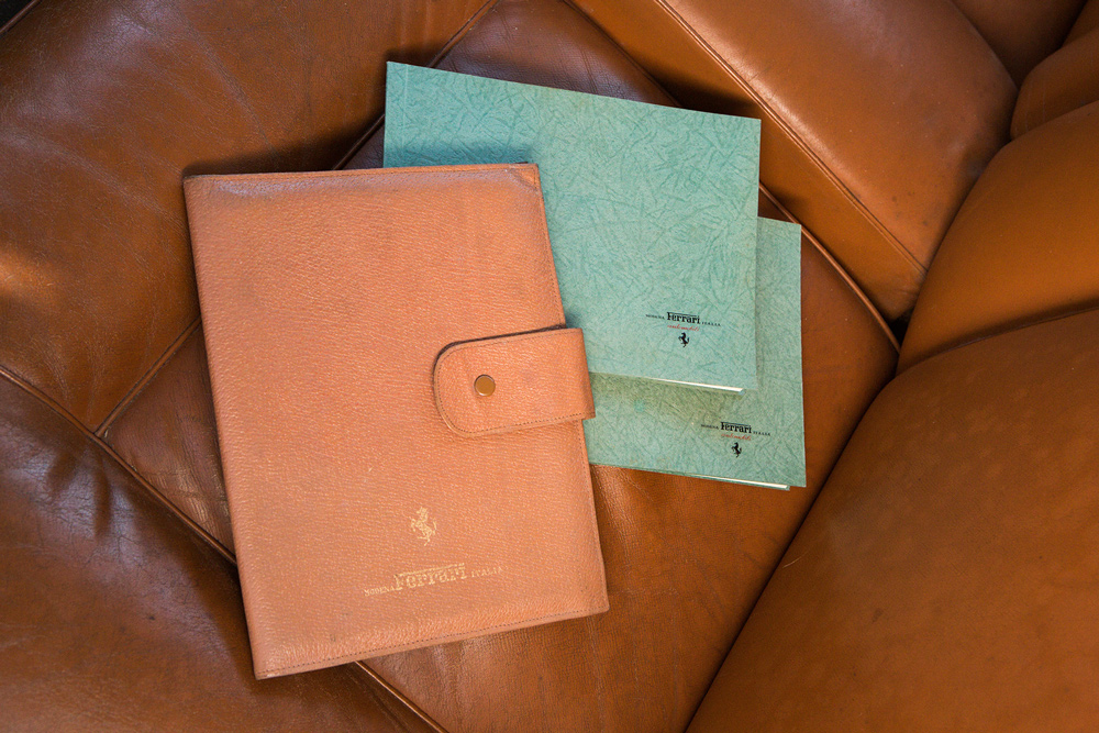 The original handbooks for a 1955 Ferrari 250 Europa GT.