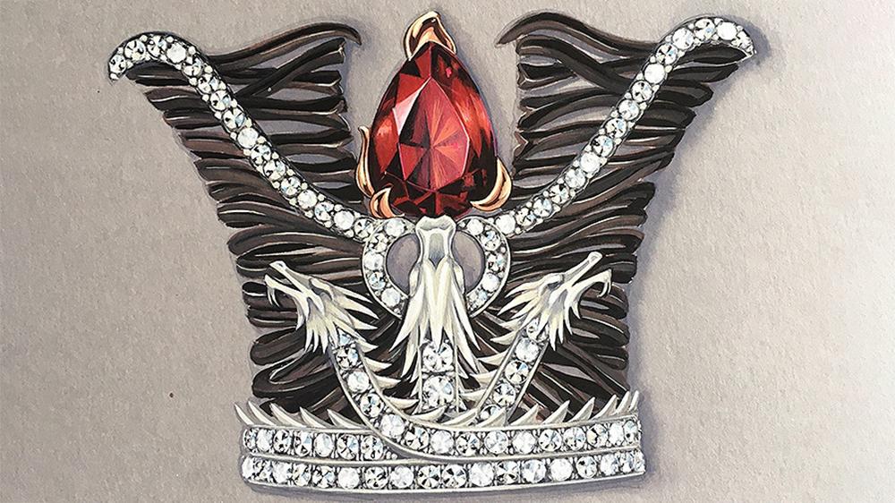 Corona del huevo de Fabergé inspirado en Juego de Tronos