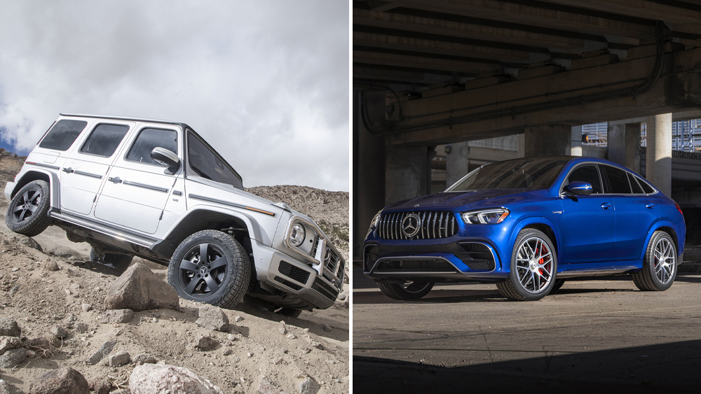 The Mercedes-Benz G550 sport utility vehicle.
