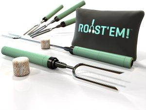 Jolly Green Marshmallow Roasting Sticks