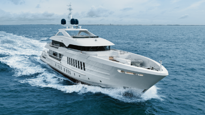 Heesen 180 foot Moskito was delivered to its owner for a shakedown cruise to Malta