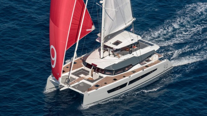 Fountaine Pajot multihull builder will introduce the first hydrogen generator aboard a small yacht on its Samana 59