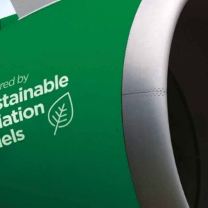 SUSTAINABLE AVIATION FUEL can be used in business jets and cuts carbon emissions by 80 percent