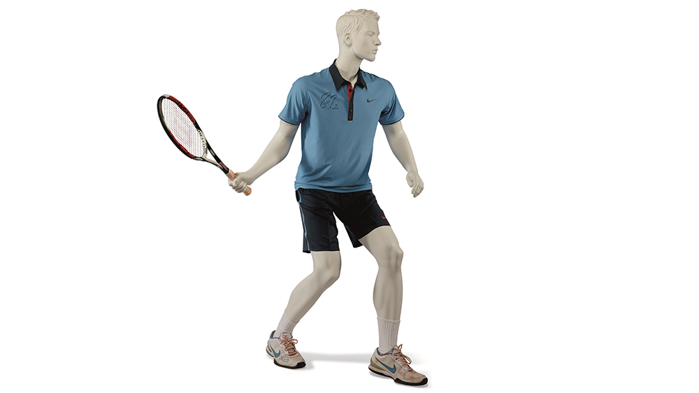 The outfit and racket from Federer's famous victory over Robin Söderling at the French Open in 2009