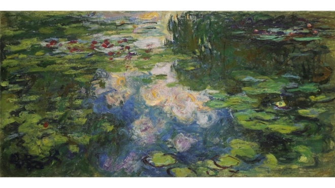Monet Water Lilies Painting