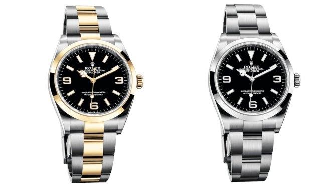 Rolex Explorer Ref. 124273 and Ref. 124270