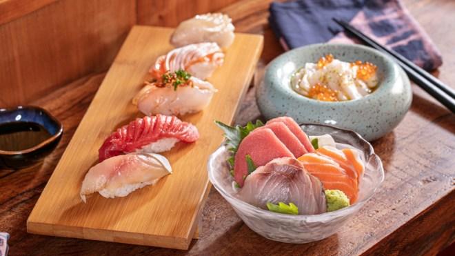 sustainable sushi sashimi nigiri