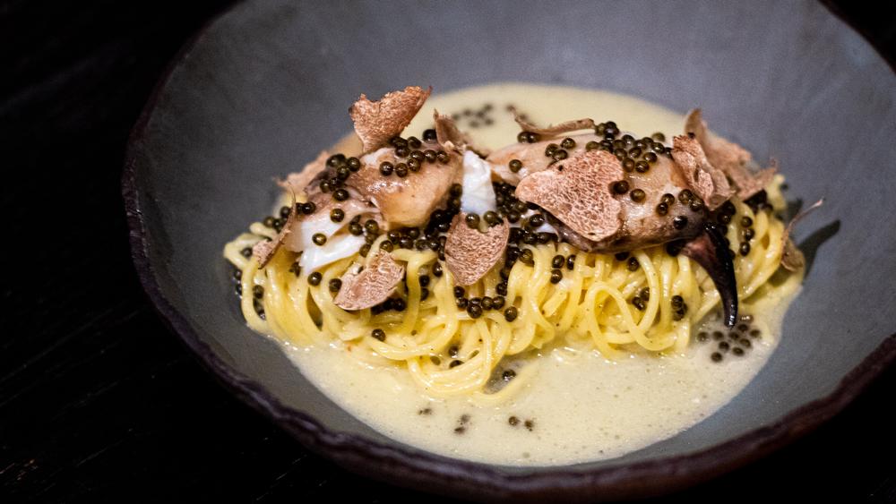 pasta truffles caviar miami stubborn seed