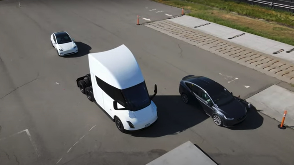 Tesla Model X Plaid and Semi