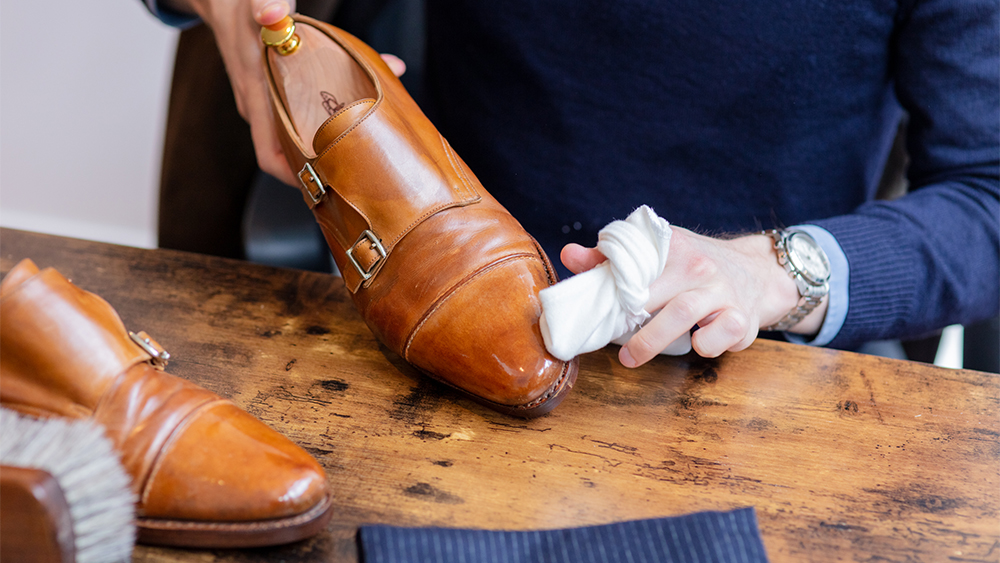 Shoe care by The Jaunty Flaneur.