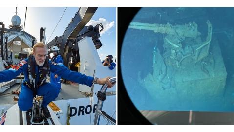 Victor Vescovo goes down to the the world's deepest wreck, the USS Johnson, a World War II era battleship