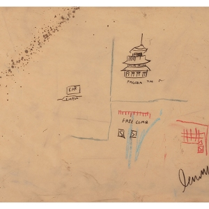 "Basquiat, ""Free Comb with Pagoda,"" 1986"